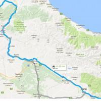 نقشه GPS و مسیر دسترسی به قلعه رودخان روی نقشه