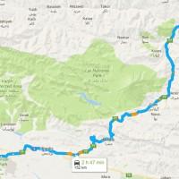 نقشه GPS و مسیر دسترسی به جنگل الیمستان روی نقشه