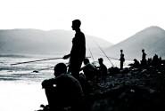 ماهیگیری محلی ها در کرانه های چغاخور