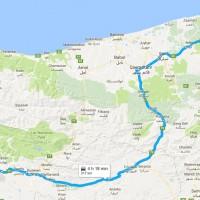 نقشه GPS و مسیر دسترسی تالاب میانکاله روی نقشه