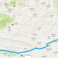 نقشه GPS و مسیر دسترسی جنگل راش روی نقشه