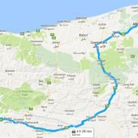 نقشه GPS و مسیر دسترسی دریاچه عباس آباد روی نقشه
