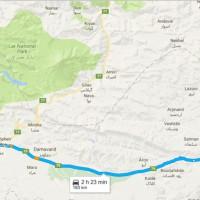 مسیر GPS و نقشه غار اسپهبد خورشید