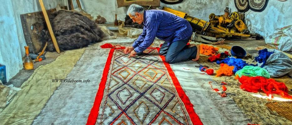ساخت فرش نمد در قاسم آباد