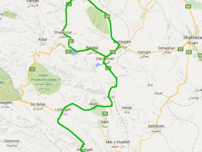 مسیر شهرکرد به تالاب چغاخور و آتشگاه